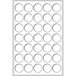 .Plateaux 35 capsules sous capsules LOT N°M65b