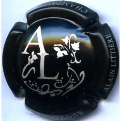 LITTIERE ALAIN 07d Noir et argent, initiales