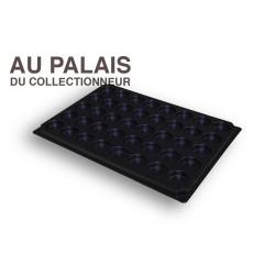 .Plateau noir matière recyclée alvéoles rondes X1 LOT N°M85