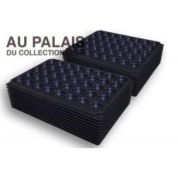 .Plateaux noir matière recyclée alvéoles rondes X100 LOT N°M98