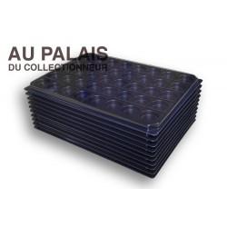 .Plateaux noir recyclée rondes avec couvercles X10 LOT N°M702
