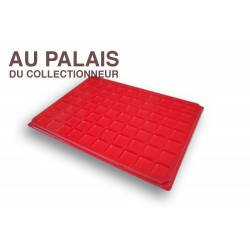 .Plateau 70 cases plastique rouge X1 LOT N°M107
