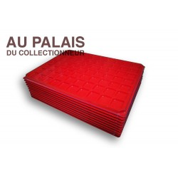 .Plateau 70 cases plastique rouge X10 LOT N°M108