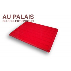.plateau 70 cases TEXTILE rouge X1 LOT N°M111