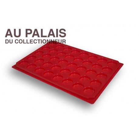.Plateaux plastique rouge alvéoles rondes X1 LOT N°M 2