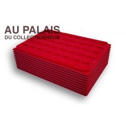 .Plateaux feutrine (carrées)X10 LOT N°M25