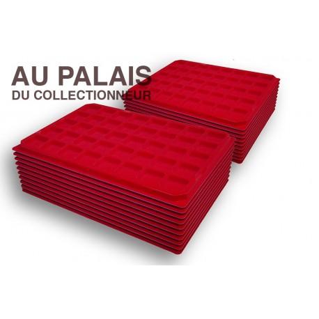 .Plateaux feutrine (carrées)X100 LOT N°M12