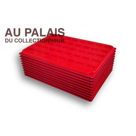 .Plateaux feutrine (carrées)X10 avec couvercle LOT N°M17