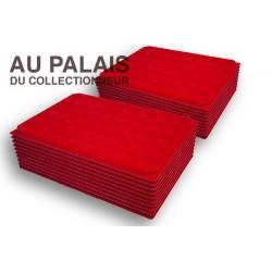 .Plateaux feutrine (rondes)X100 LOT N°M21