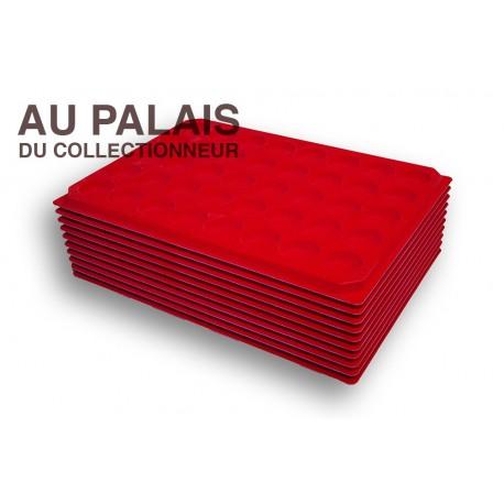 .Plateaux feutrine (rondes)X10 LOT N°M71