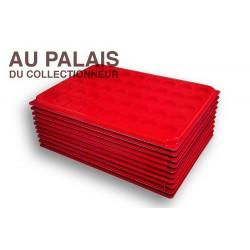 .Plateaux feutrine (rondes) avec couverclesX10 LOT N°M74