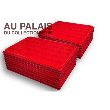 .Plateaux feutrine (rondes) avec couverclesX100 LOT N°M75