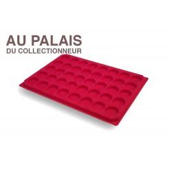 .Plateaux TEXTILE rouge alvéoles rondes X1 LOT N°M27