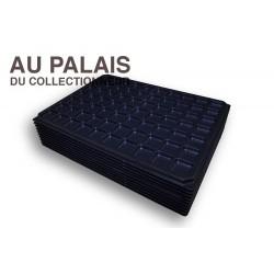 .Plateau 70 cases noir matière recyclée X10 LOT N°M309