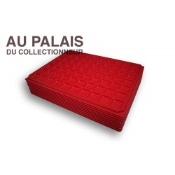 .Plateau 70 cases plastique rouge X10 LOT N°M307