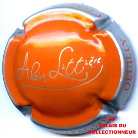 argent et orange Capsule de champagne LITTIERE Alain