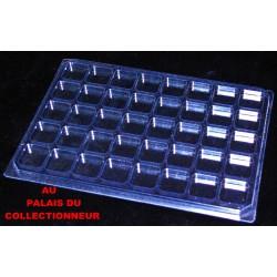 .Nouveau plateau transparent alvéoles carrées x1 LOT N° M801