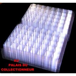 .Nouveaux plateaux transparents alvéoles carrées x100 LOT N° M803
