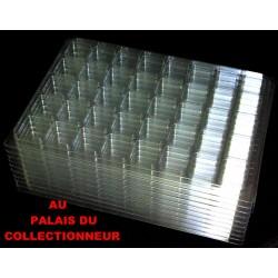 .Nouveaux plateaux transparents alvéoles carrées avec couvercles x10 LOT N° M822