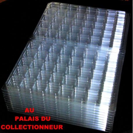 .Nouveaux plateaux transparents alvéoles carrées avec couvercles x100 LOT N° M823