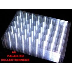 .Nouveaux plateaux transparents alvéoles rondes x10 LOT N° M852
