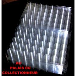 .Nouveaux plateaux transparents alvéoles rondes x100 LOT N° M853