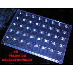 .Nouveau plateau transparent alvéoles rondes avec couvercle x1 LOT N° M861