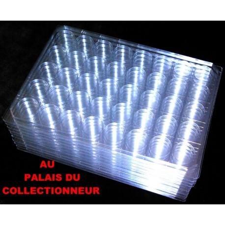 .Nouveaux plateaux transparents alvéoles rondes avec couvercles x10 LOT N° M862