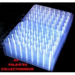 .Nouveaux plateaux transparents alvéoles rondes avec couvercles x100 LOT N° M863