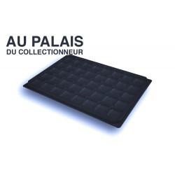 .Plateau noir matière recyclée alvéoles carrées X1 LOT N°PNC