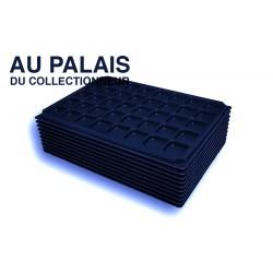 .Plateaux noir matière recyclée alvéoles carrées X10 LOT N°PNC10