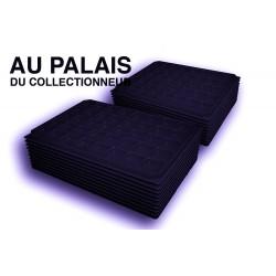 .Plateaux noir matière recyclée alvéoles carrées X100 LOT N°PNC100