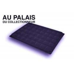 .Plateau noir recyclée carrées avec couvercle X1 LOT N°PNCC