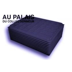 .Plateaux noir recyclée carrées avec couvercles X10 LOT N°PNCC10