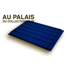 .Plateaux feutrine (carrées) bleu X1 LOT N°bc