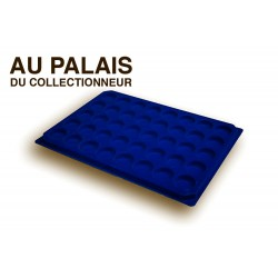 .Plateaux feutrine (rondes) bleu X1 LOT N°br