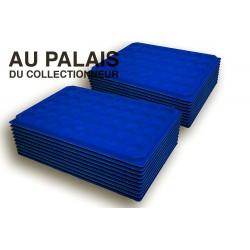 .Plateaux feutrine (rondes) bleu X100 LOT N°br100
