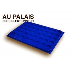 .Plateaux feutrine (rondes) bleu avec couvercleX1 LOT N°brc