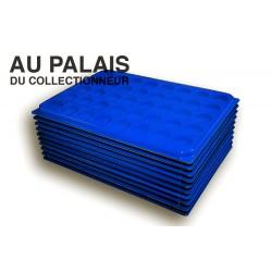 .Plateaux feutrine (rondes) bleu avec couverclesX10 LOT N°brc10