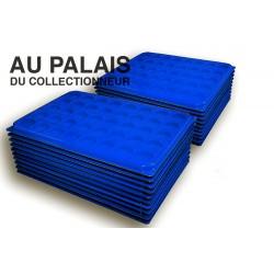 .Plateaux feutrine (rondes) bleu avec couverclesX100 LOT N°brc100