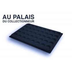 .Plateaux feutrine (rondes) noir X1 LOT N°nr