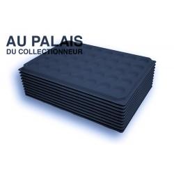 .Plateaux feutrine (rondes) noir X10 LOT N°nr10