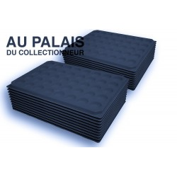 .Plateaux feutrine (rondes) noir X100 LOT N°nr100