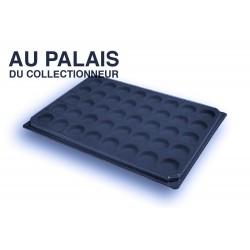 .Plateaux feutrine (rondes) noir avec couvercleX1 LOT N°nrc