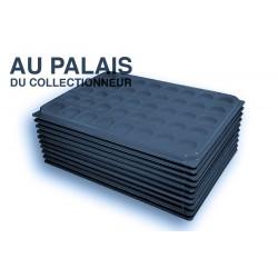 .Plateaux feutrine (rondes) noir avec couverclesX10 LOT N°nrc10