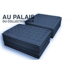 .Plateaux feutrine (rondes) noir avec couverclesX100 LOT N°nrc100