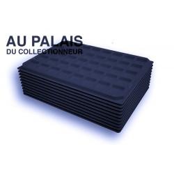 .Plateaux feutrine (carrées) noir X10 LOT N°nc10