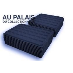 .Plateaux feutrine (carrées) noir X100 LOT N°nc100