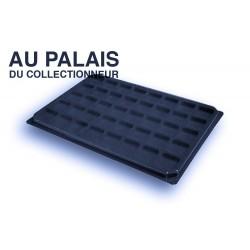 .Plateaux feutrine (carrées) noir X1 avec couvercle LOT N°ncc
