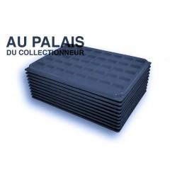 .Plateaux feutrine (carrées) noir X10 avec couvercle LOT N°ncc10